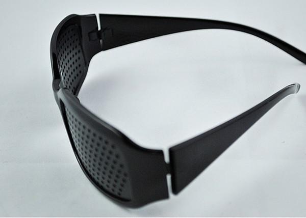 Unisex Vision Care Pinhole Glasses Eye Exercise Eyesight Improve Pin Hole Eyeglasses Black