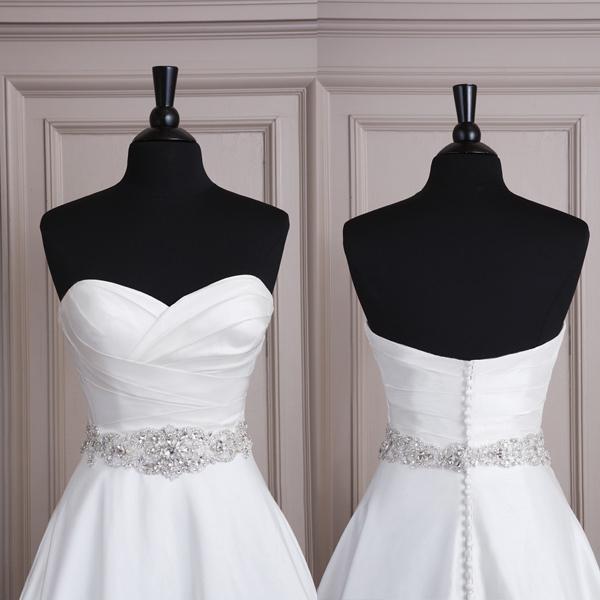 2018 2015 Best Selling Handmade Satin Crystal Beaded Bridal Wedding ...