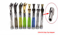 Wholesale clearomizer connector resale online - DHL Top Quality Metal CE4 Connector Drip Tip Adapter Stainless Steel Connector for metal drip tip CE4 CE5 CE6 Atomizer Clearomizer