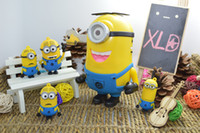 Wholesale Minions Usb Dhl - Despicable Me Speaker Portable Minions Speaker Mini MP3 4 Player Amplifier Micro SD TF Card USB Disk Computer DHL Free