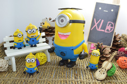 Wholesale Despicable Dhl - Despicable Me Speaker Portable Minions Speaker Mini MP3 4 Player Amplifier Micro SD TF Card USB Disk Computer DHL Free