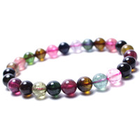 Wholesale Fashion round Tourmaline Apyrite Gemstone Beads mm Fit Bracelets Necklaces
