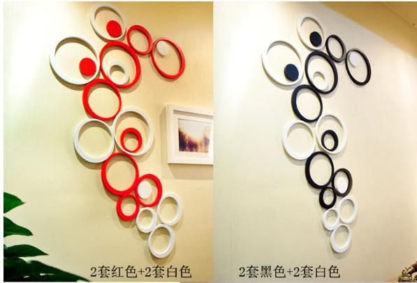 12 sets new style 3d wall sticker round shape home decoration wall sticker 9 colors l381