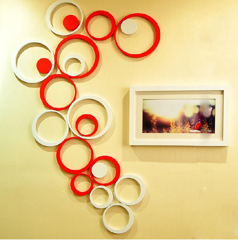 New Style 3d Wall Sticker Round Shape Home Decoration Wall Sticker ...