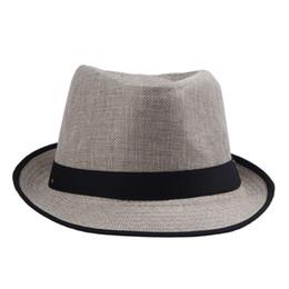 Wholesale Dress Trendy Tops - Trendy Women Men Straw Panama Fedora Caps Solid Dress Hats Stylish Spring Summer Beach Sun Hat DHV4*10