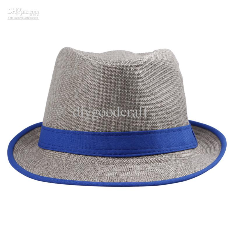 Stylish Straw Panama Fedora Caps Solid Dress Hats Cool Spring Summer Beach Sun Hats DHV6*10