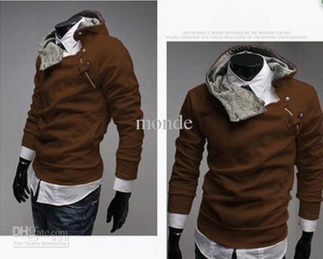 SıCAK monde Kore erkek Hoodie Tişörtü Tavşan Saç Yaka artı boyutu erkek Ceket erkek Mont erkek dış giyim 5 renkler gri 1171