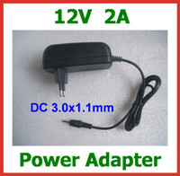 Wholesale Charger 12v Acer - 100pcs 12V 2A 3.0x1.1mm   3.0*1.1mm Power Adapter EU US Plug for Acer Iconia Tab A500 A501 A200 A100 A101 Tablet PC Wall Home Charger