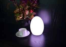 Wholesale Breaks Bar - Free Shipping Colorful LED Egg bar table lamp Break-resistant, rechargeable LED glowing lighted egg night light for Christmas,club,bars