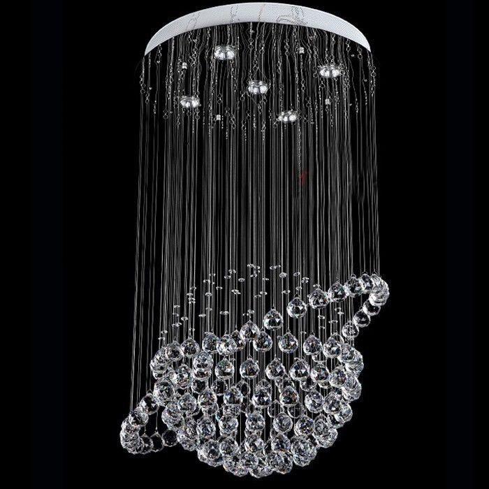 Новая современная люстра линейный Кристалл огни гостиная лампы светильники Освещение