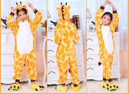 Wholesale Giraffe Sleepwear - Cartoon Animal Giraffe Onesies Onesie Pajamas Kigurumi Jumpsuit Hoodies Sleepwear For Children (no claw) Welcome Wholesale Order