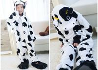 Wholesale Kigurumi For Kids - Animal Cow Onesies for Kids Onesie Pajamas Kigurumi Jumpsuit Hoodies Sleepwear For Children (no claw) Welcome Wholesale Order