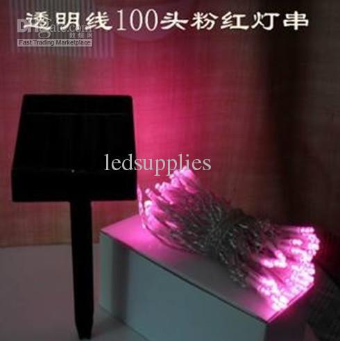 Солнечное освещение строки из светодиодов фея рождественские огни праздничные огни украшения лампа фонарь 100