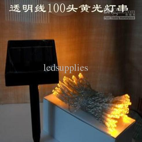 Solarlichterkette führte feenhafte Weihnachtslichtfeiertagslichtdekorationslampenlaterne 100