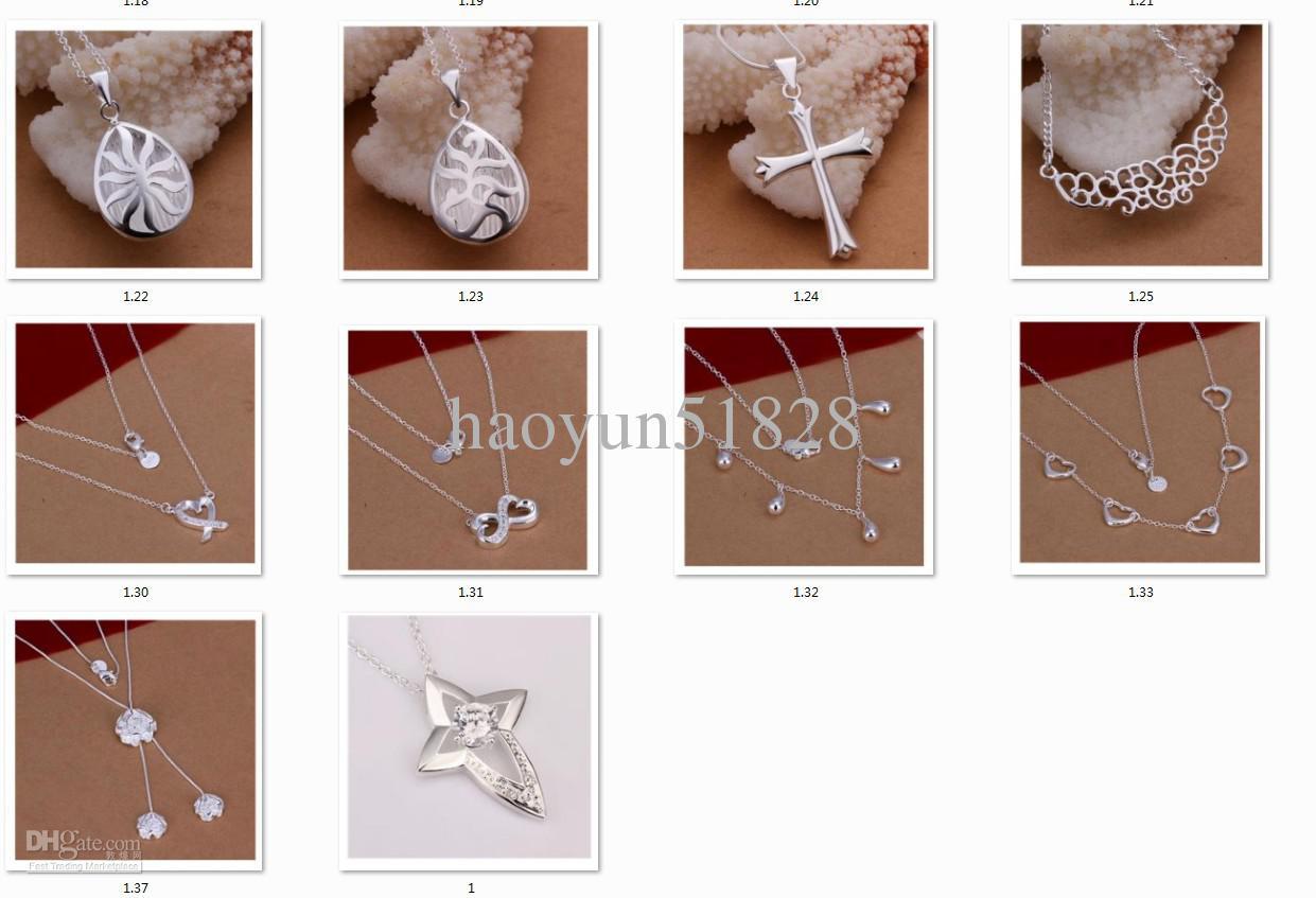 ()ファッション最高品質魅力的なジュエリー女性のネックレスペンダント925スターリングシルバー