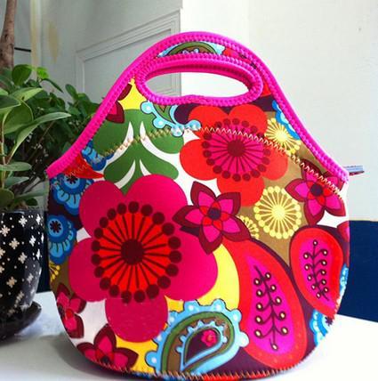 Moda öğle yemeği çantaları yalıtım neopren piknik su geçirmez soğutucu yalıtımlı çanta anne bebek çantası