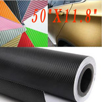 Wholesale Chevrolet Cruze Tail - 3pcs 3D Carbon 127x30cm Car Auto Fibre Sticker Vinyl Sheet For Cruze Equalizer Chevrolet Skoda Octavia Motorcycle Mobile Laptop