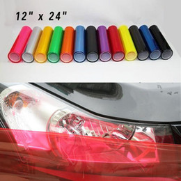 "Wholesale Fog Light Film - 12"" x 24"" Colorful Car Light Headlight Vinyl Films, Smoke Fog Taillight Overlay Protector Film, car styling"