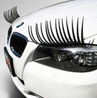 Wholesale Cool 3d Logos - 2014 new brand a pair Cool Fashion Car Eyelashes PVC Logo Stickers Lashes Decal Accessories