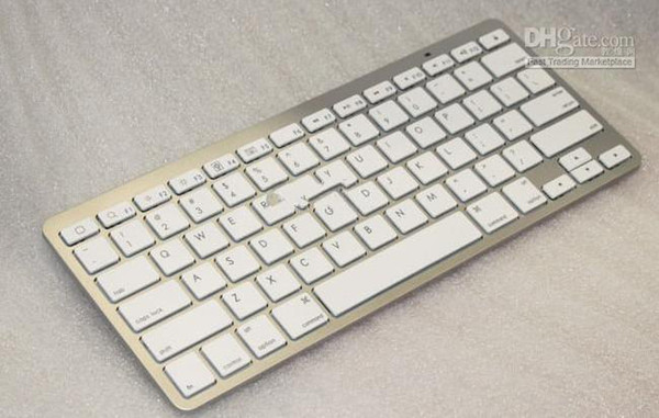 best selling Wholesale - Ultra Slim Aluminum ABS Wireless 78 Keys Bluetooth Keyboard for android device ,apple