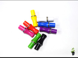 Wholesale Electronic Cigarette Clear Atomizer Ce4 - Colorful Mouth Drip Tip OR Clear Mouthpiece Electronic Cigarette E Cigarette Accessories for ce4 ce5 ce6 atomizers Head Tip 8Colors