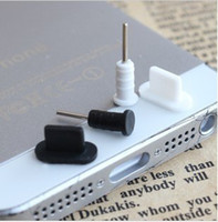 Wholesale Dust Plug Covers - 800pcs=400pairs Dock Cover for iPhone 5 dust plug earphone jack plugs for iphone 5 black white transparent free shipping