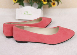 Discount pointy flats shoes - Designer shoes New Pointy Flats, European style candy color PU shallow mouth single shoes free shipping