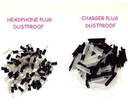 Wholesale Iphone Plugs Headset - 600pcs=300pair silicone dock plugs headset dust plug cap for iphone 4 4GS headset jack dock connector dust cover