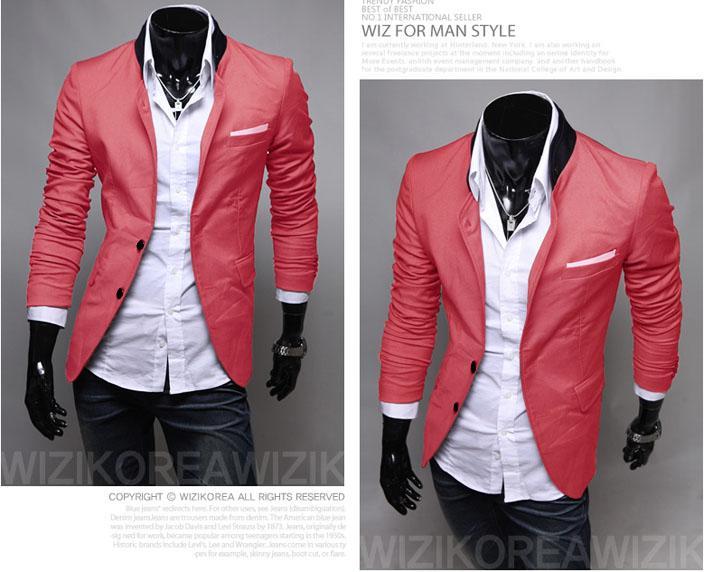 2016 Nuevos trajes de invierno Blazers Moda para hombres Trajes Esmoquin Traje informal Abrigo Cardigan abrigo Abrigos Chaqueta de color sólido Color sólido trajes para hombre M25
