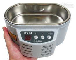 Wholesale Stainless Steel Ultrasonic Jewelry Cleaner - DADI DA-968 220V or 110V Stainless Steel Dual 30W 50W Ultrasonic Cleaner With Display Ultrasonic Cleaning Machine