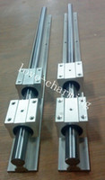 Wholesale 2sets SBR12 mm MM FULLY SUPPORTED LINEAR RAIL SHAFT SBR12UU Block