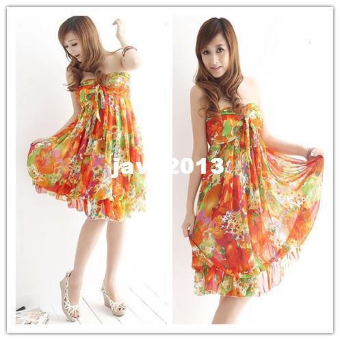 Großhandel Kostenloser Versand Orange, Blau Cool Fashion Kleid, New ...