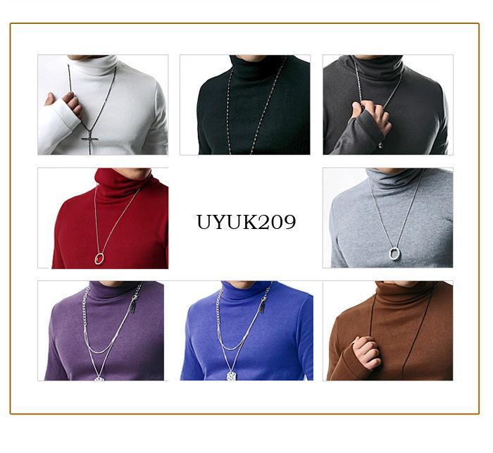新しい冬のキントシャツファッションスリム男性カジュアルシャツ長袖カメネックシャツソリッドカラースウェット8色M28
