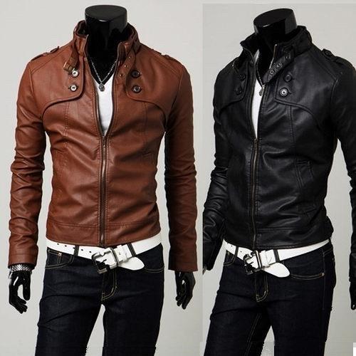 Koreanische Heiße Neue Jacke Mode Männer Dünne Winterjacke männer motorrad Pu-leder Mantel Plus Größe Stehkragen Jacke Mantel Outwear M33