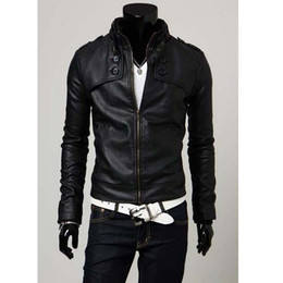 $enCountryForm.capitalKeyWord Australia - Korean Hot New Jacket Fashion Men Slim Winter Jacket Men's motorcycle PU leather Coat Plus Size Stand Collar Jacket Coat Outwear M33