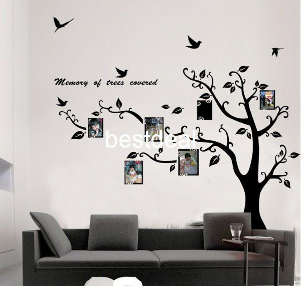 Elegant Extra Large 170x210cm Photo Frame Photo Memory Tree Removable Tree  Kids/Living Room Art Mural Wall Sticker Decal Wall To Wall Decals Wall To Wall  Stickers ... Part 21