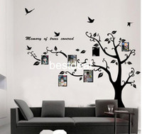 Wholesale Cartoons Photo Frame Design - Extra Large 170x210cm Photo Frame Photo memory tree removable Tree Kids Living Room Art Mural Wall Sticker Decal