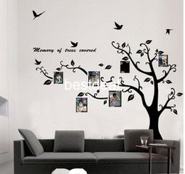 Wholesale Tree Sticker Frames - Extra Large 170x210cm Photo Frame Photo memory tree removable Tree Kids Living Room Art Mural Wall Sticker Decal