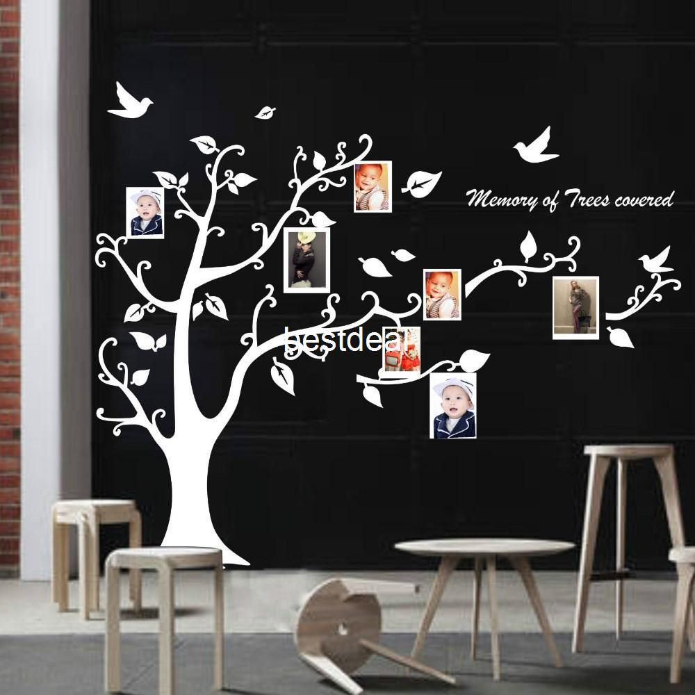 Wall stickers extra - Extra Large 170x210cm Photo Frame Photo Memory Tree Removable Tree Kids Living Room Art Mural Wall Sticker Decal