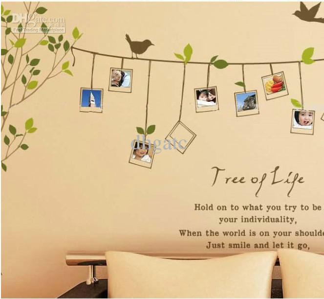 Free Ems Family Photo Picture Frame Tree Vine Branch Removable Wall ...