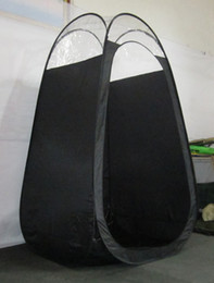 Wholesale Top Quality Person Tent - 5pcs Lot!Black color Spray Tanning tent with PVC roof top quality popular in Eruopean & Ameriacan market