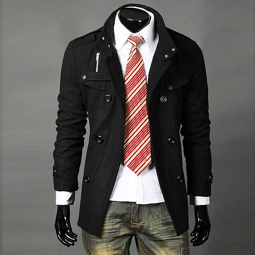 2017 New Winter Trench Coats Mode Ullrockar Dubbelbröst Casual Coat Stand Collar Långärmad Coats Cardigan Outwear Windbreaker M36