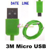 Wholesale Colorful M ft Micro USB Data Sync Charger Cord Charging Cable For Samsung Galaxy S4 S IV i9500 S3 S2 Blackberry HTC