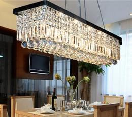 Wholesale meeting live - LLFA28 L100cm*W22cm Modern LED Crystal Pendant Light Ceiling Lamp Chandelier Living Room DropLights Restaurant Hotel Meeting Room Lighting