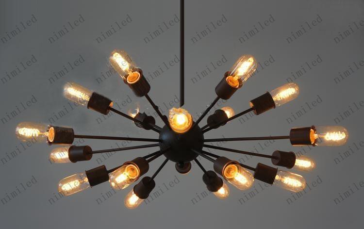 RH Loft Man-made Satelliten-Lampe Special Edison Vintage-Stil 18 Kopf Loft Licht LLY27