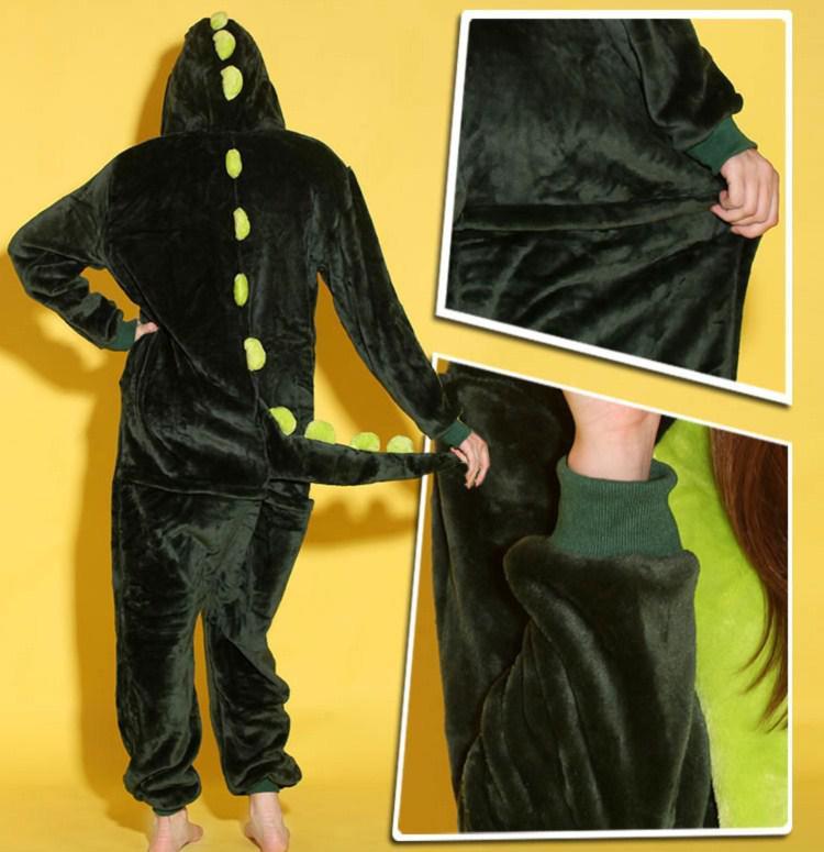 Djur kostymer guldgrå rosa grön dinosaurynesies onesie pyjamas kigurumi jumpsuit hoodies sleepwear för vuxna grossist order välkomna