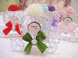 kürbis prinzessin partei Rabatt Romantische Prinzessin Wedding bevorzugt Traumkürbis-Auto-Süßigkeitskasten für Hochzeitsfest-Dekorationen 100pcs freies Verschiffen