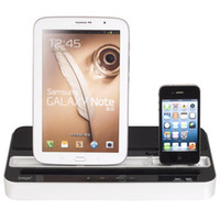 Wholesale Dock Speaker S3 - Dual Black Dock Station Charger with Speaker for iPad 2 3 4 iPhone 3GS 4 4S 5 iPod Samsung S4 S3 i9500 i9300 N7100 Free Shipping
