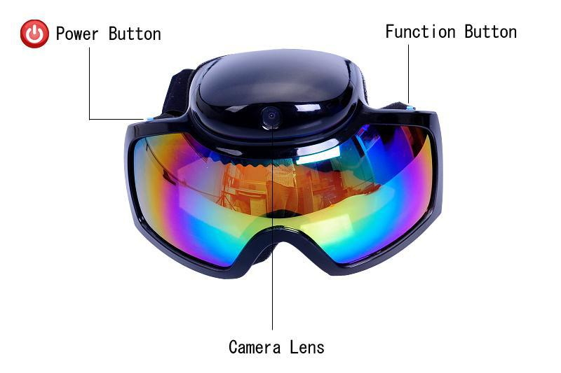 HD 720P تزلج على الجليد الرياضة نظارات تزلج كاميرا فيديو تزلج نظارات شمسية مسجل فيديو ينس شحن مجاني