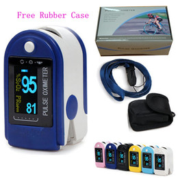 Wholesale Pulse Fingertip Oximeter - Wholesale - FDA CE proved Fingertip Pulse Oximeter SPO2 Monitor OLED Display SIX Colors Free Shipping